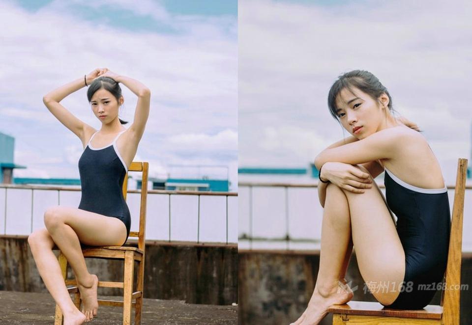 日本死库水青春少女紧身泳衣湿身