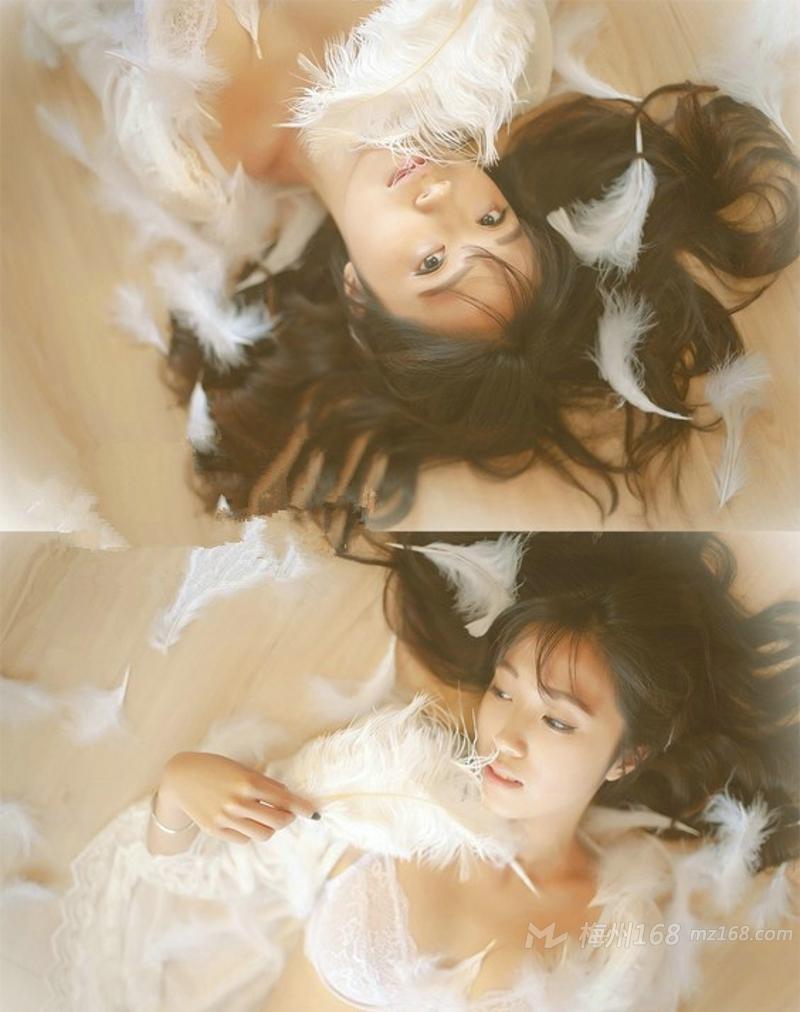 雪白肌肤高颜值美女朦胧性感唯美写真